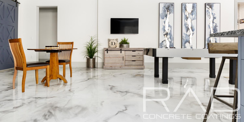 Metallic Epoxy Floor Coating Rad Concrete Coatings Utah